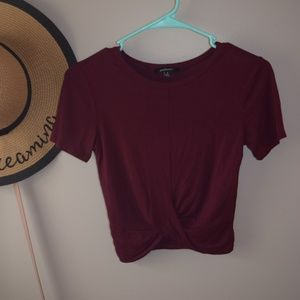 Cropped Plum colored shirt